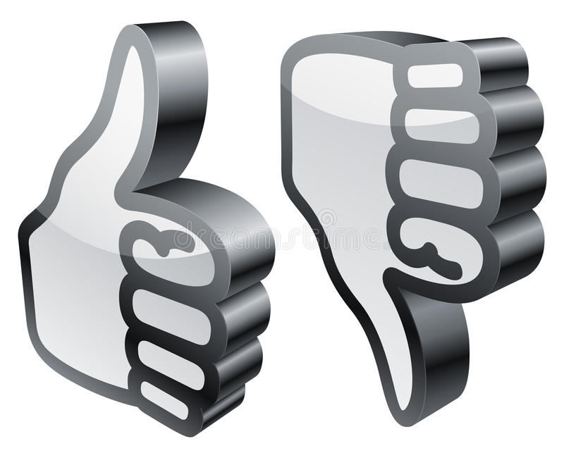 Download Thumbs Up And Down. Stock Images - Image: 22957074