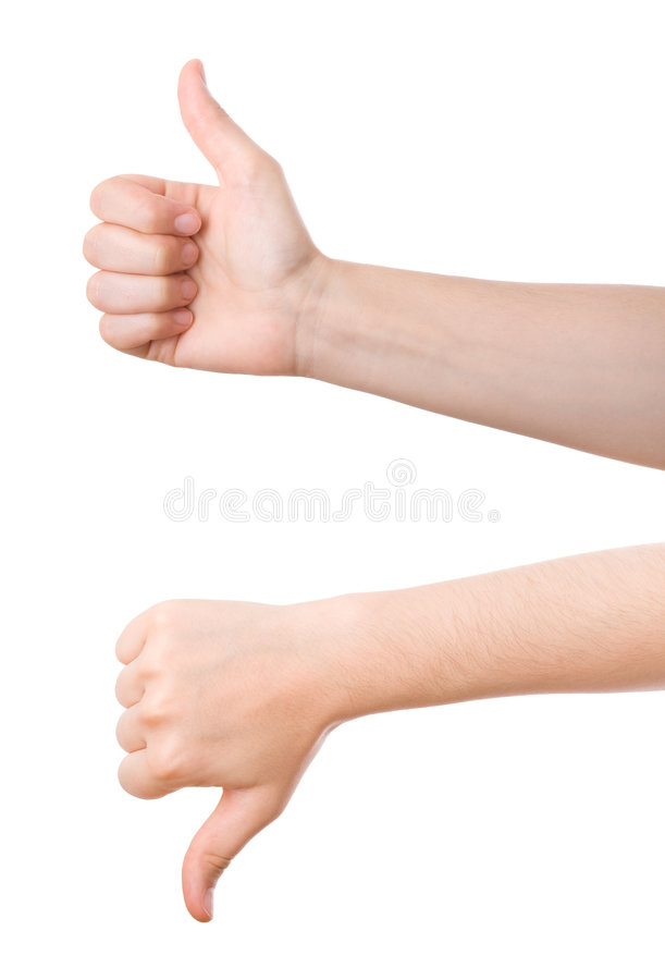 Thumbs up/down royalty free stock photos