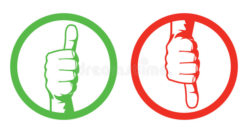Thumbs up/down royalty free illustration