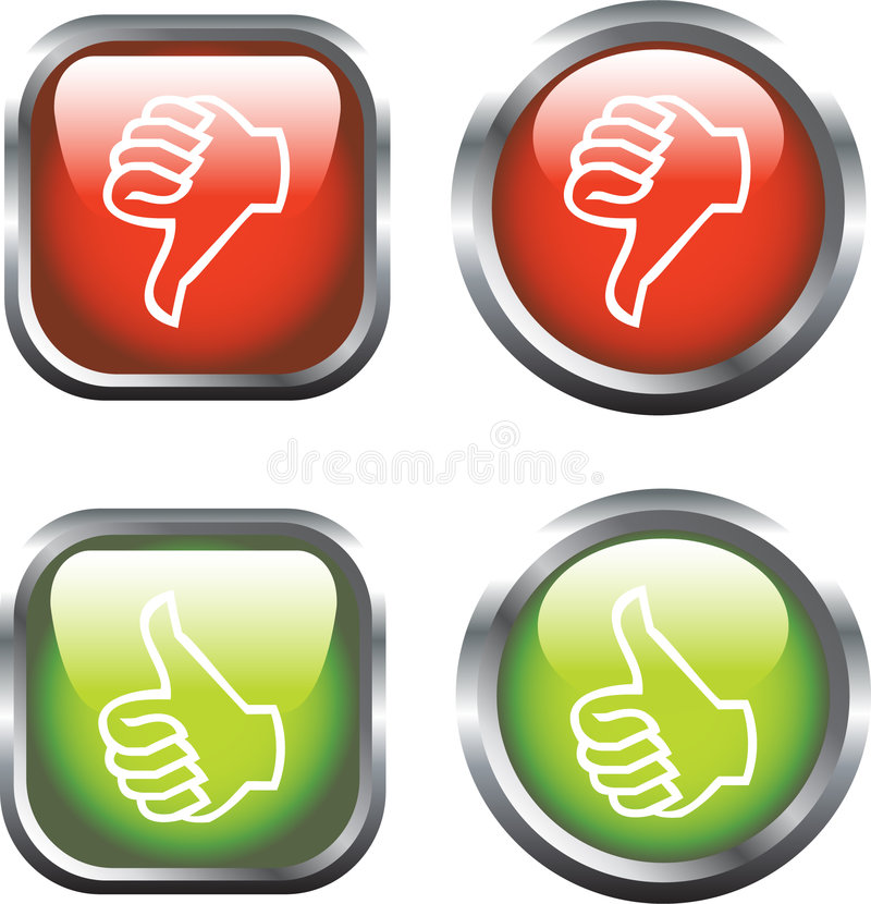 Thumbs Up / Down Icons royalty free illustration