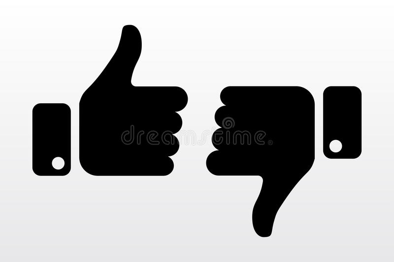Thumbs up and down, like dislike icons for social network. Finger hands for soicial media. Vector illustration vector illustration