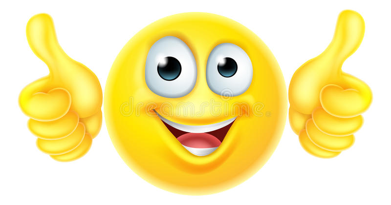 Thumbs Up Emoticon Emoji Stock Vector. Illustration Of