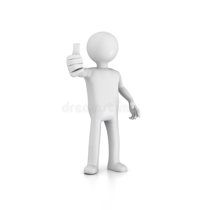 Thumbs Up Figure stock illustration