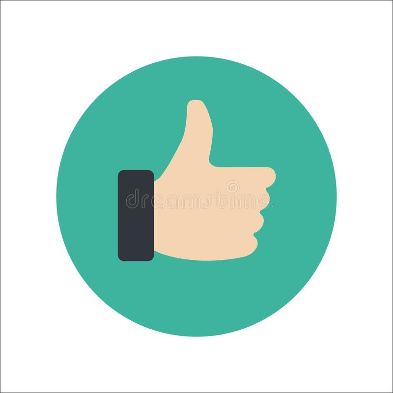 Thumbs Up Flat Icon Vector vector illustration