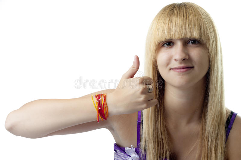 Download Thumbs-Up Girl Stock Image - Image: 15263951