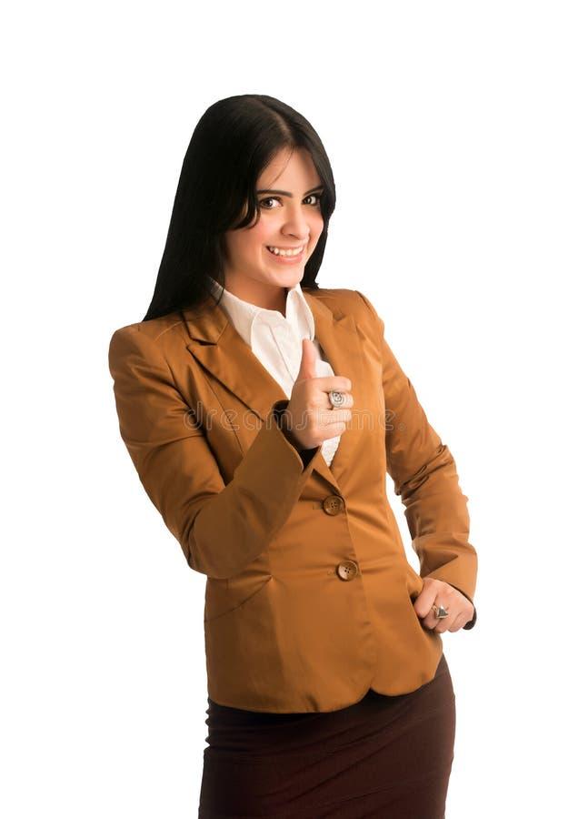 Thumbs up girl stock photos