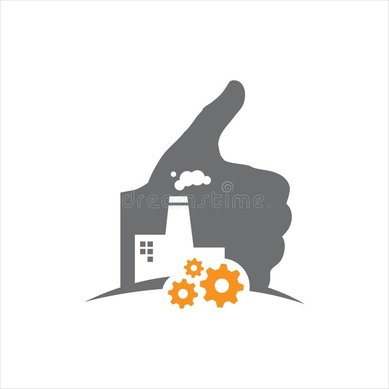 thumbs up for good factory logo design sign symbol vector illustration vector illustration