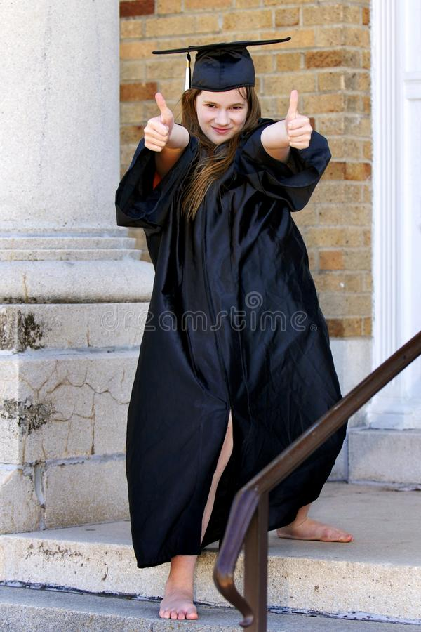 Thumbs Up Grad royalty free stock photos