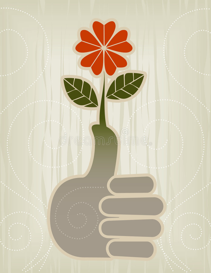 Thumbs Up | Green Thumb Icon royalty free stock photo