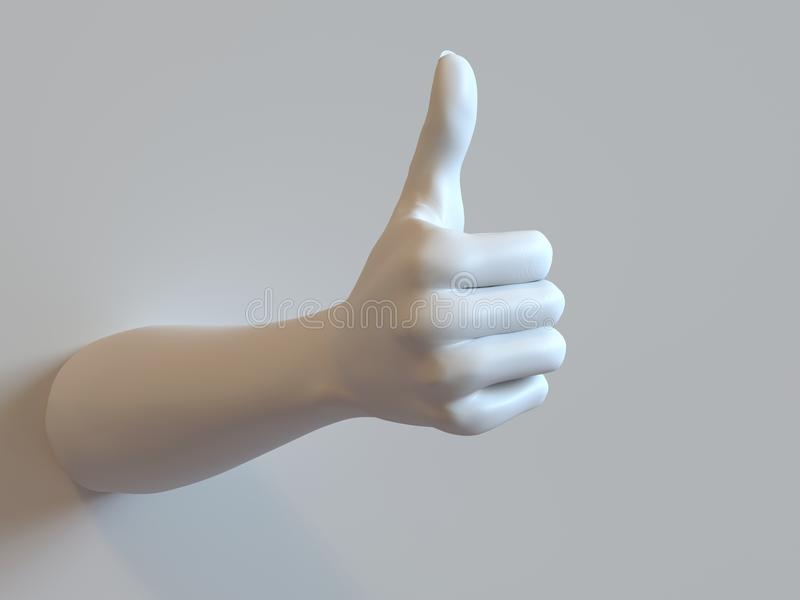 Download Thumbs-up Hand stock illustration. Image of positive - 36108389