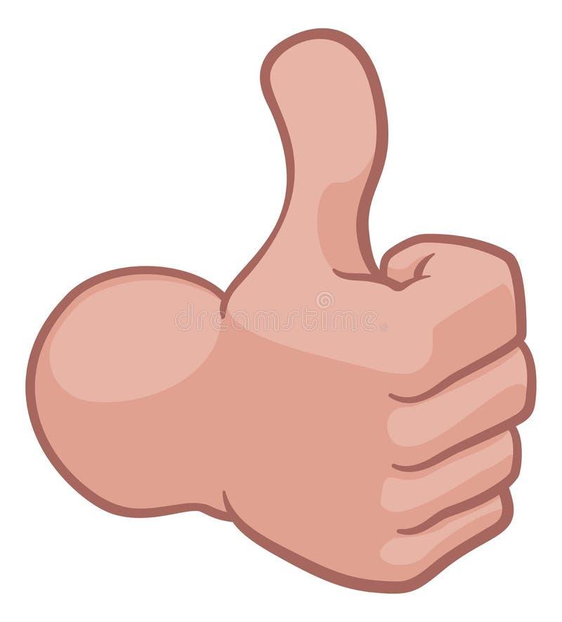 Thumbs Up Hand Cartoon Icon royalty free illustration