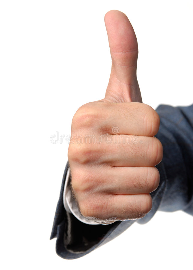 Thumbs up hand sign