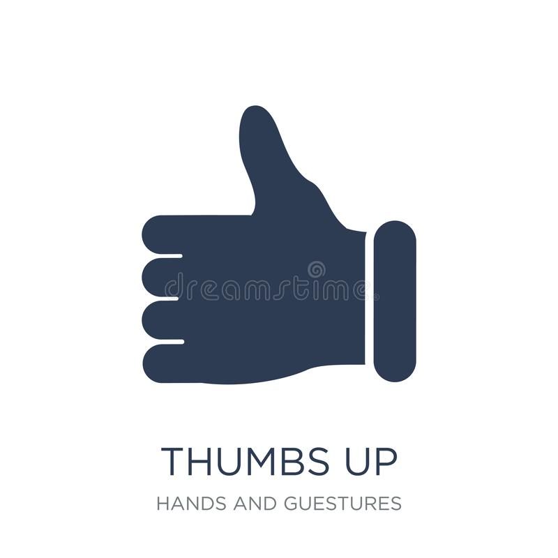Thumbs up icon. Trendy flat vector Thumbs up icon on white background from Hands and guestures collection. Vector illustration can be use for web and mobile vector illustration