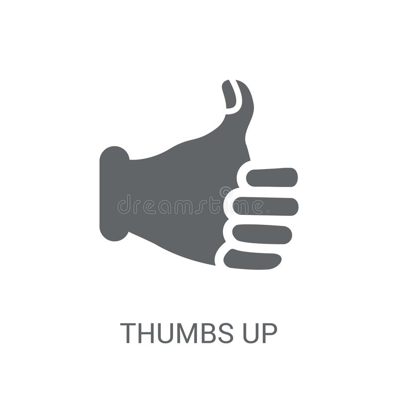Thumbs up icon. Trendy Thumbs up logo concept on white background from Hands collection royalty free illustration