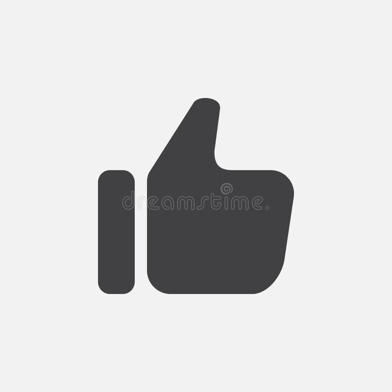 Thumbs up icon, vector logo illustration, pictogram isolated on white. Thumbs up icon, vector logo illustration, pictogram isolated on white vector illustration