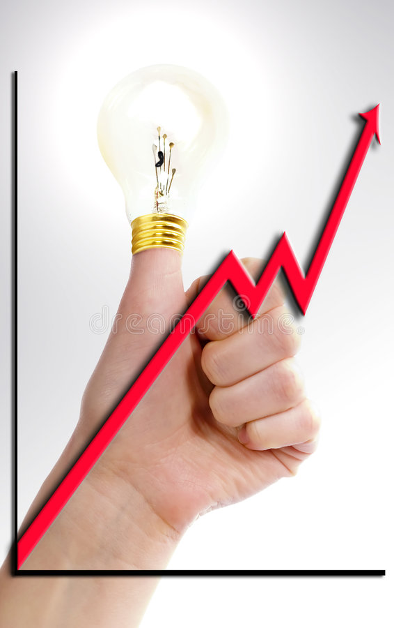 Download Thumbs Up Idea stock image. Image of bulb, grand, creative - 569249