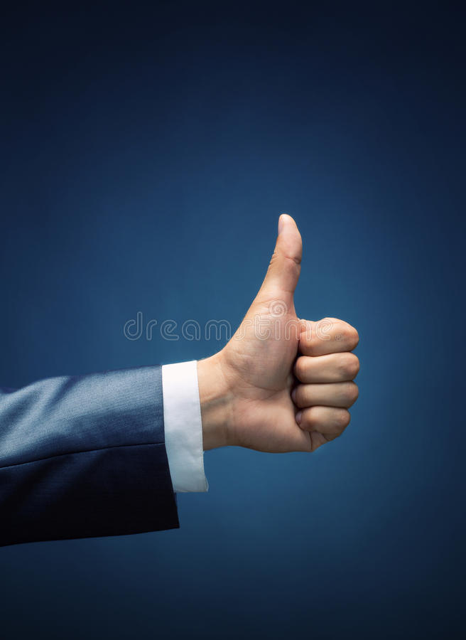 Thumbs up. Like royalty free stock images