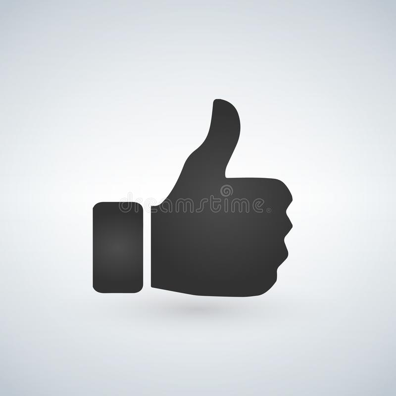 Thumbs up like emoji for social media channels and websites illustration.  royalty free illustration