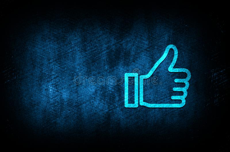 Thumbs up like icon abstract blue background illustration digital texture design concept. Thumbs up like icon abstract blue background illustration dark blue stock illustration