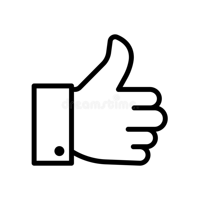 Thumbs up like icon flat vector illustration design stock illustration