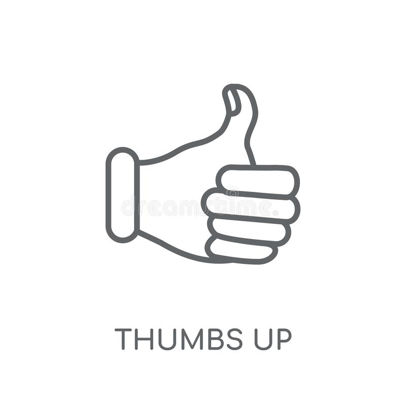 Thumbs up linear icon. Modern outline Thumbs up logo concept on vector illustration