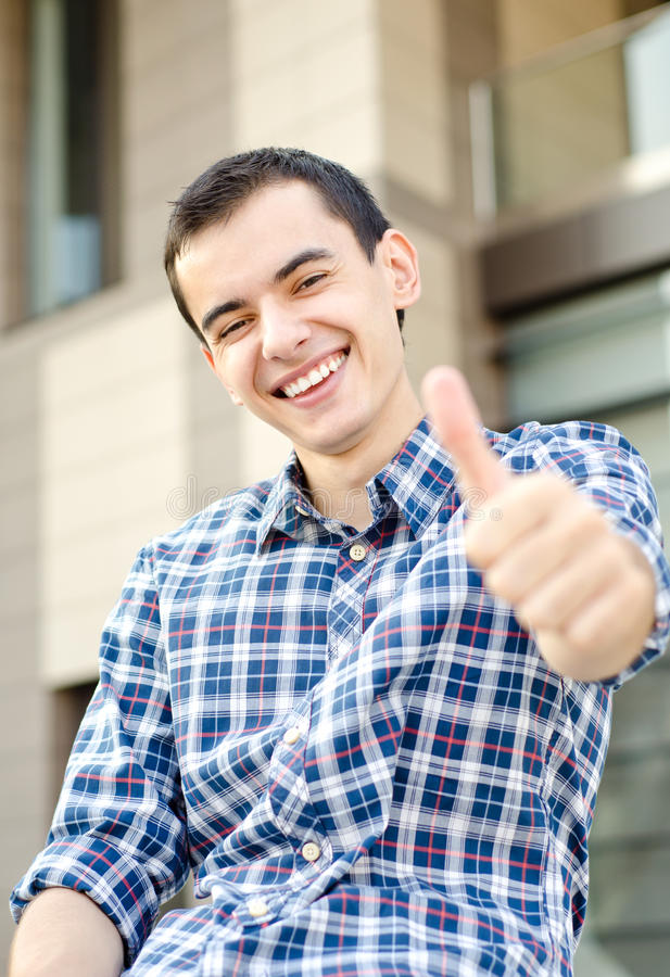 Thumbs up man royalty free stock photography