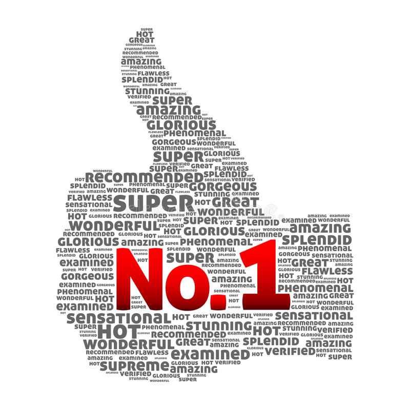 Thumbs up Number one. Concept. Abstract illustration royalty free illustration
