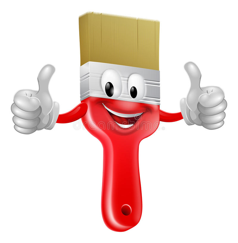 Download Thumbs up paintbrush stock vector. Image of cartoon, concept - 30549867