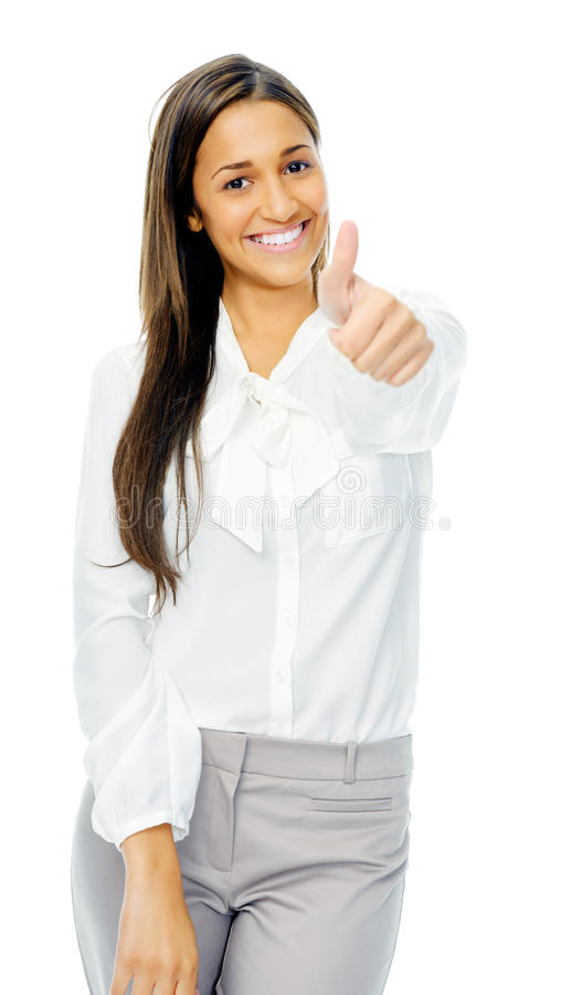 Thumbs up positive gesture