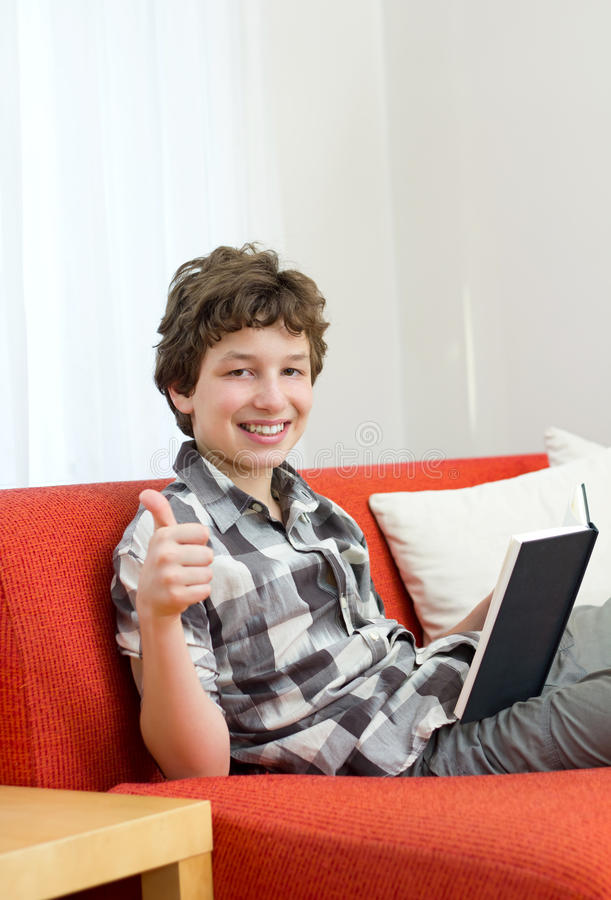 Download Thumbs up for reading stock image. Image of person, paper - 21306463