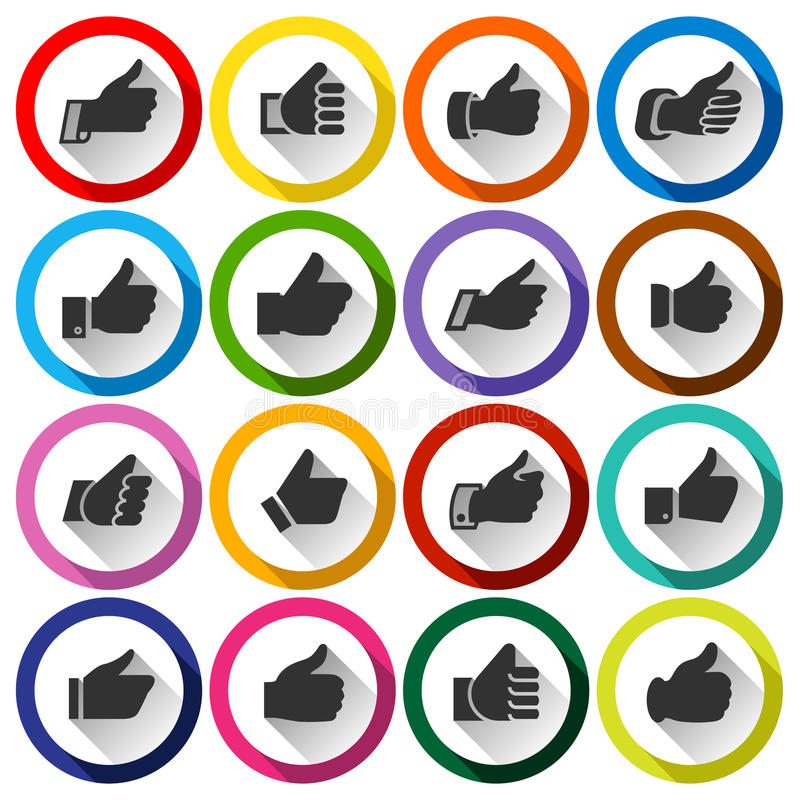 Free Thumbs Up, Set Round Buttons Royalty Free Stock Photos - 46482538