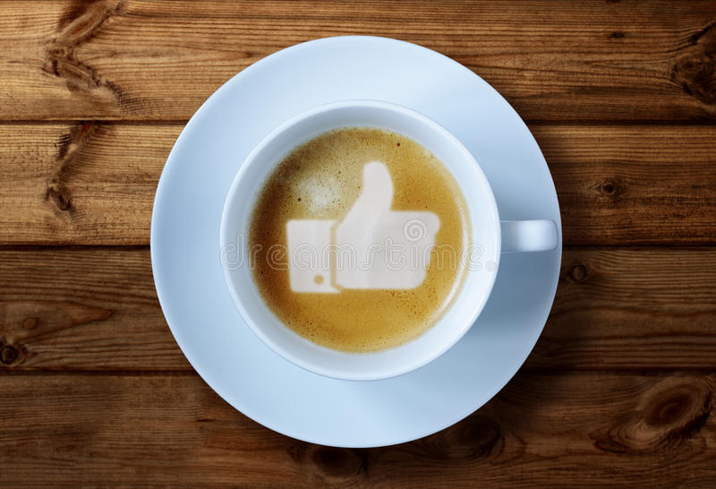 Download Thumbs Up Sign In Coffee Stock Images - Image: 36330244