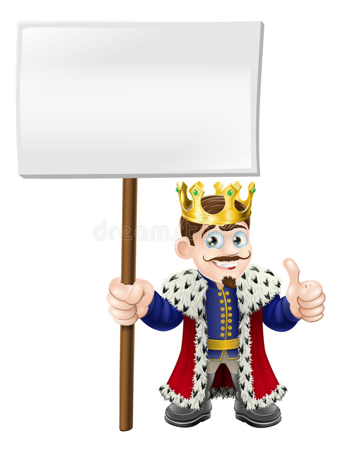 Download Thumbs up sign King stock vector. Illustration of empty - 25557309