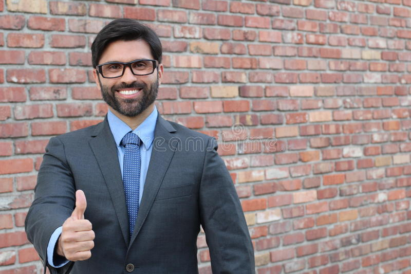 Thumbs up - Stock image with copy space royalty free stock photos