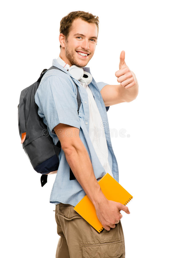 Download Thumbs Up Student Happy Man Stock Image - Image of caucasian, achievement: 31655941