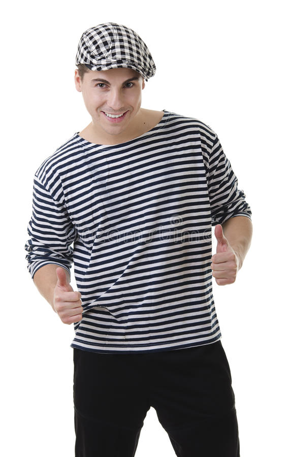 Thumbs up! by stylish young rowdy royalty free stock images