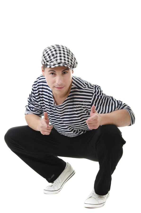Thumbs up! by stylish young rowdy stock images
