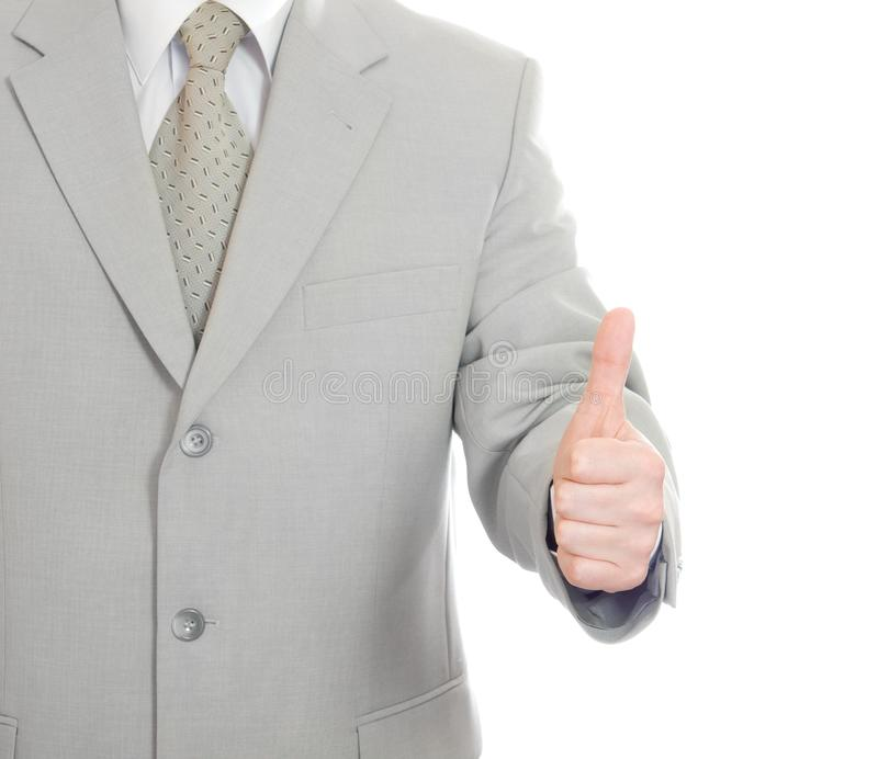 Thumbs up success hand sign isolated royalty free stock photo