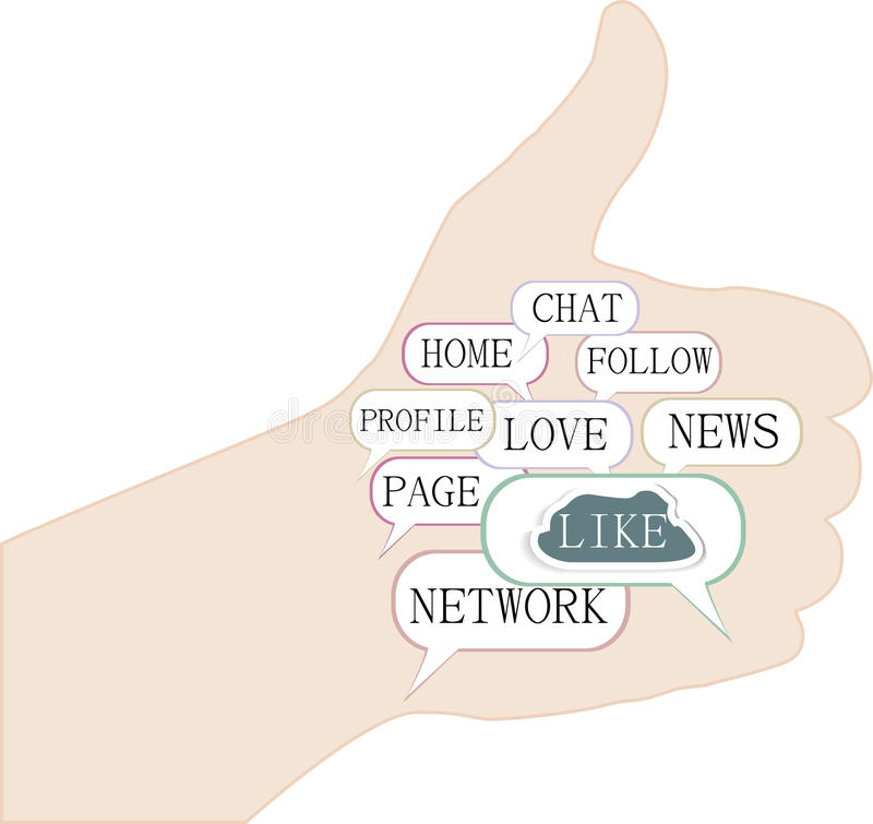 Download Thumbs Up Symbol, Keywords On Social Media Themes Stock Images - Image: 25420354