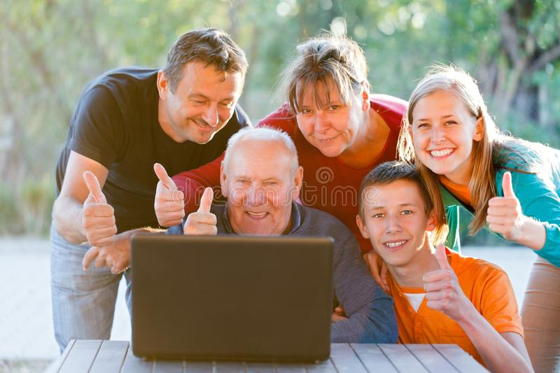 Thumbs up for technology stock photos