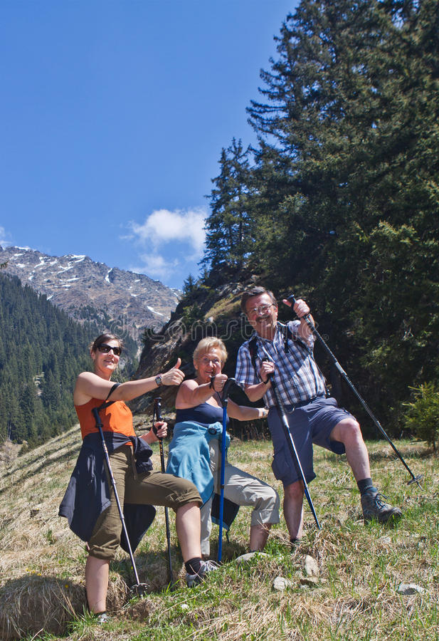 Download Thumbs Up To The Great Hiking Time Stock Image - Image: 20236505