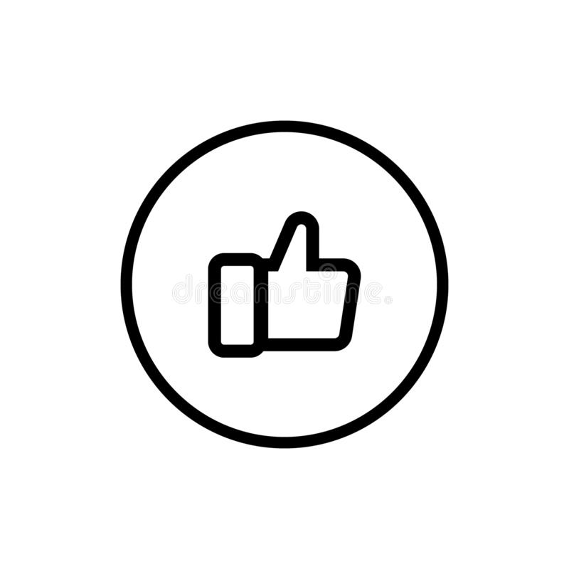 Thumbs up vector icon, like symbol. Simple, flat design, royalty free illustration