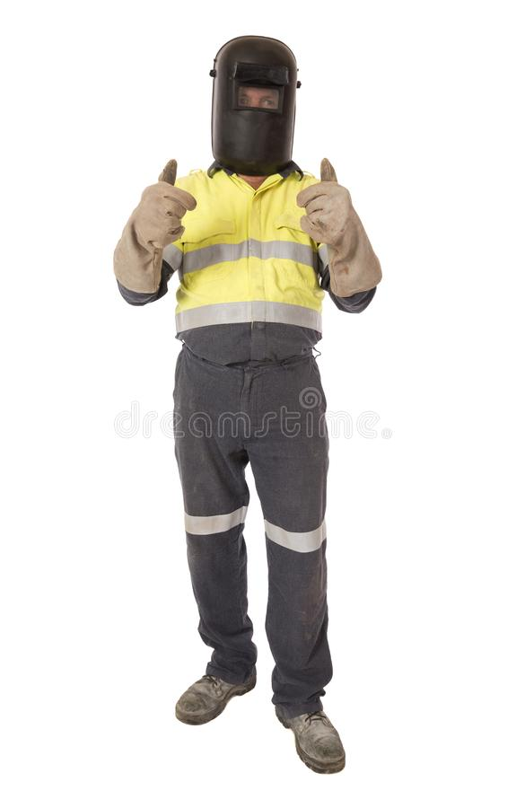 Thumbs Up Welder royalty free stock image