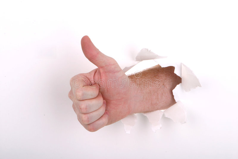 Thumbs up White royalty free stock images