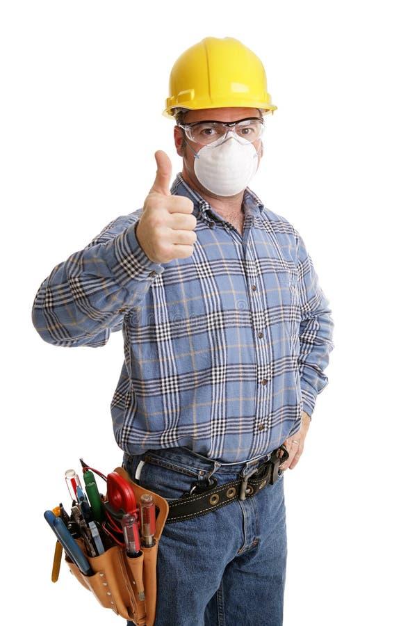 thumbsup budowy bezpieczeństwa zdjęcia stock