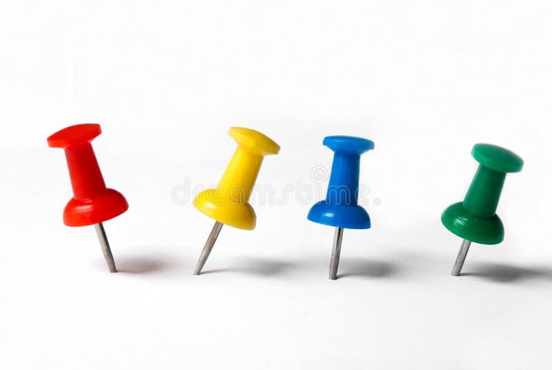 Thumbtacks colorés photographie stock