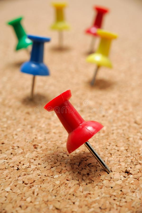 Download Thumbtacks on cork board stock photo. Image of hang, reminder - 25468024