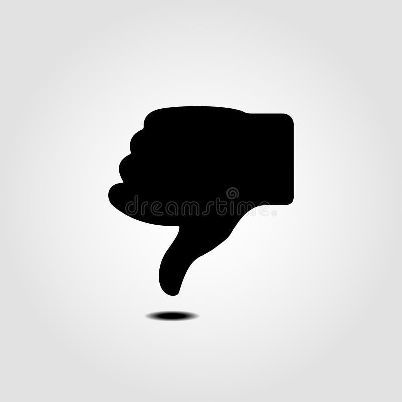 Thump down icon. Gray background. Vector illustration. stock illustration