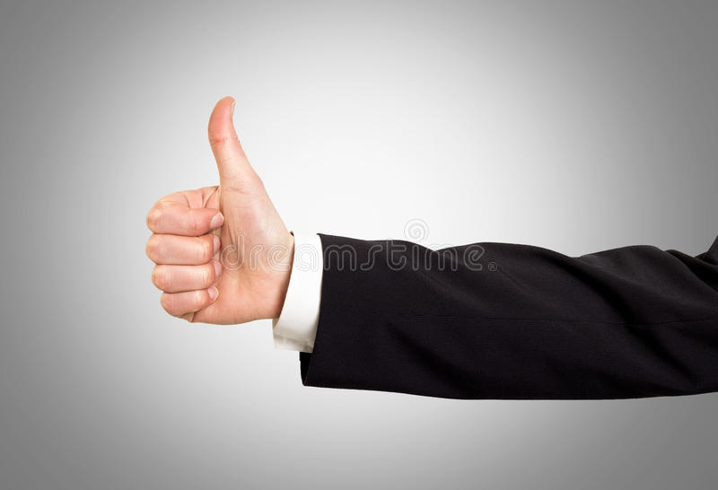 Thumps up! stock photos