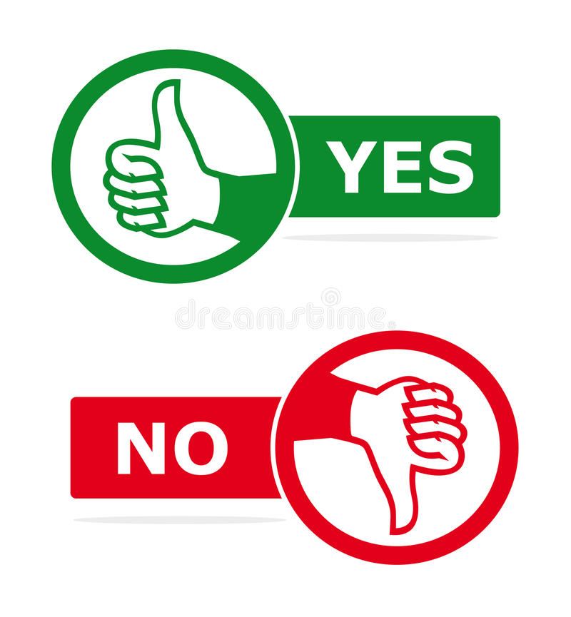Thumps up and thumps down voting concept stock images